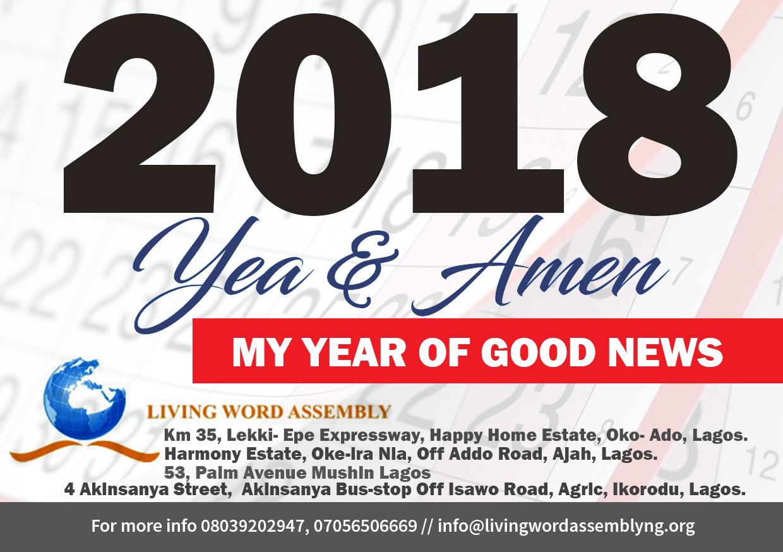 2018 Theme - 2018 yea and Amen